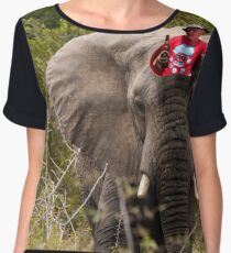 The comfy way to ride an Elephant Chiffon Top