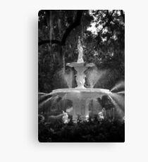 Savannah Fountain #1, Georgia Canvas Print