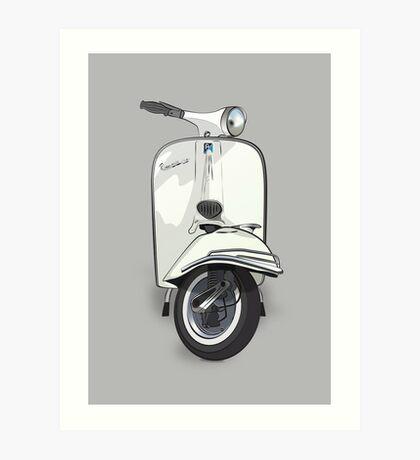 Vintage Vespa 150 - White Art Print