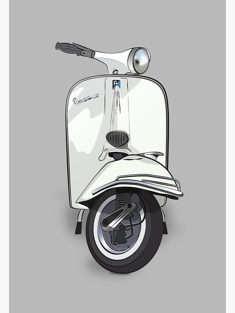 Vintage Vespa 150 - White by collibosher