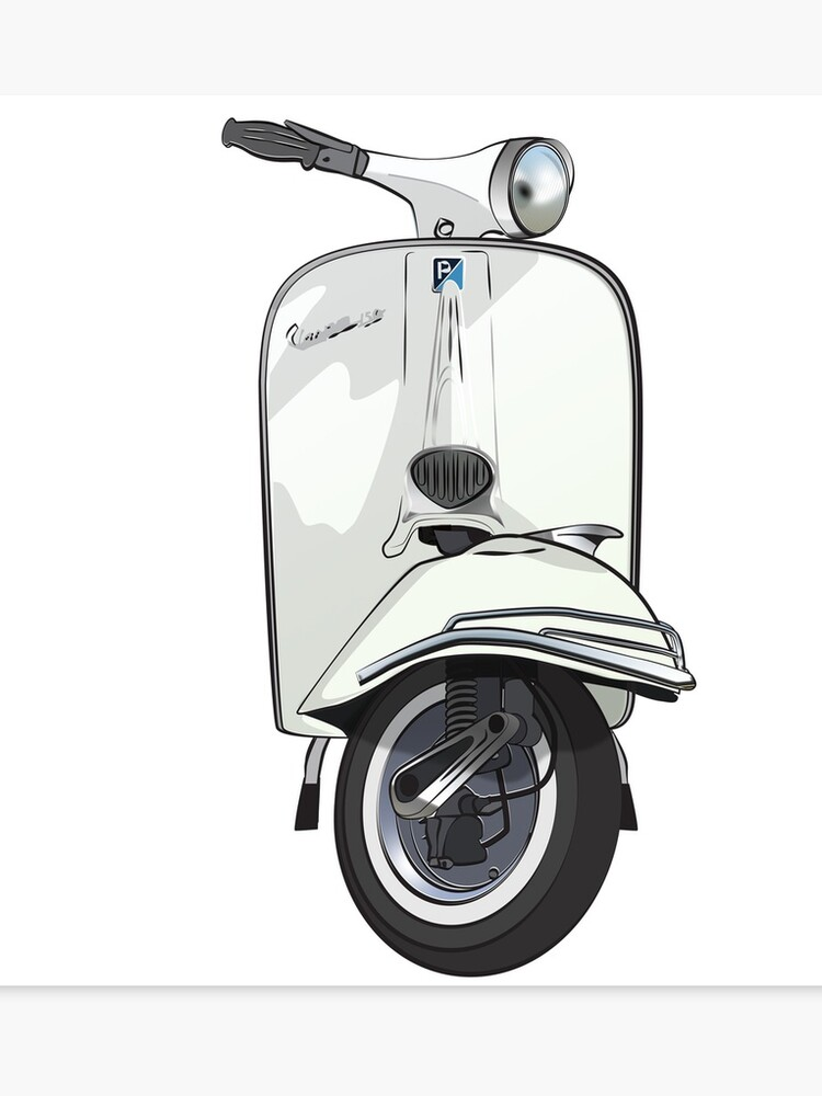 Vintage Vespa 150 - White | Canvas Print
