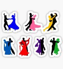Ballroom Dancers Sticker