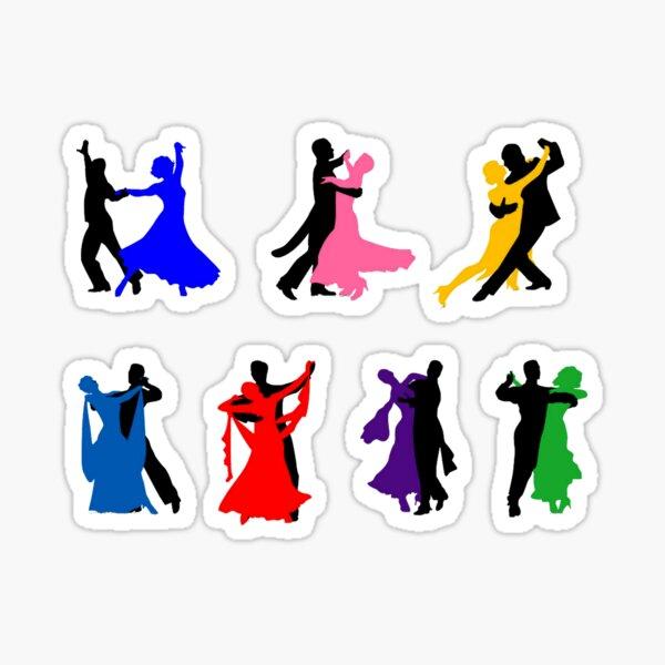 DANCERS Vinyl Sticker DANCE Samba Dancesport Standard International Ballroom
