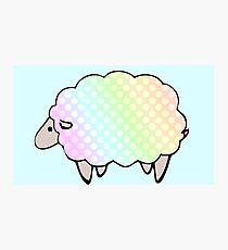 Pastel Rainbow Polkadot Sheep Photographic Print