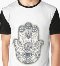 Hamsa hand Drawing, Hand Of Fatima Illustration, Ethnic art Graphic T-Shirt