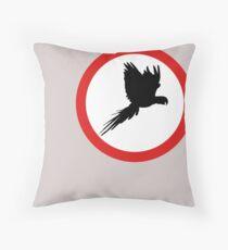 Divieto pappagalli Throw Pillow