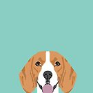Beagle dog portrait pattern cute gifts for dog lover dog breeds by PetFriendly by PetFriendly