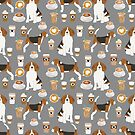 Beagle dog pattern coffee portrait pattern cute gifts for dog lover dog breeds by PetFriendly by PetFriendly