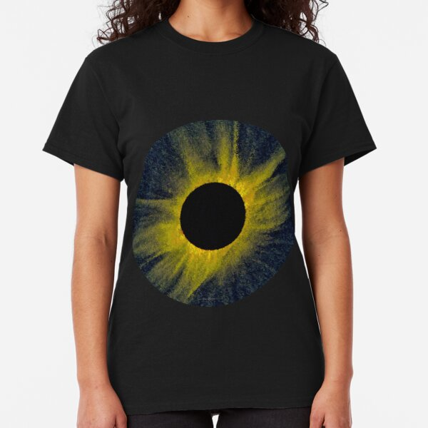 Total Eclipse of the Sun Generative Astronomical Art Classic T-Shirt