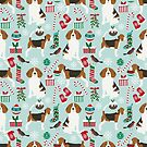 Beagle dog pattern christmas portrait pattern cute gifts for dog lover dog breeds by PetFriendly by PetFriendly