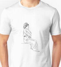 Lady in Bathrobe Unisex T-Shirt