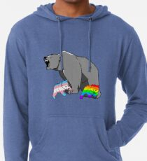 Mama / Papa Bär LGBT Pride Leichter Hoodie