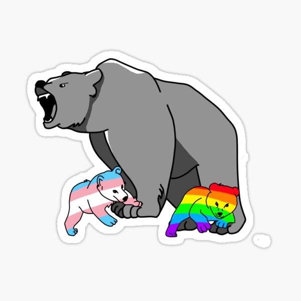 Mama/Papa Bear LGBT Pride Sticker