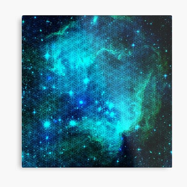 Sacred Nebula In Teal  Metal Print
