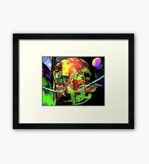 Battleship Apophysis Fresco Framed Print