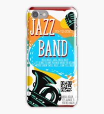 Music poster for jazz band live festival iPhone Case/Skin
