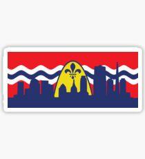 St. Louis Flag Skyline Sticker