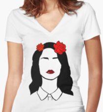 Lana Del Rey 2 Women's Fitted V-Neck T-Shirt