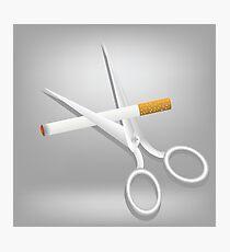 cigarette and scissors Photographic Print