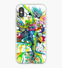 Tubes of Wonder - Abstract Watercolor + Pen Illustration iPhone Case