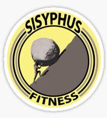 Sisyphus Fitness (grey) Sticker