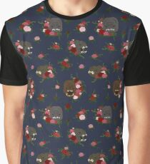 Rancors & Roses Navy Graphic T-Shirt