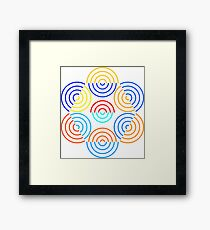 Colorful Concentric Circles Framed Print