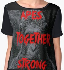 Apes Together Strong - Planet of the Apes Chiffon Top