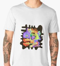 Abstract surreal graphic design background. Men's Premium T-Shirt