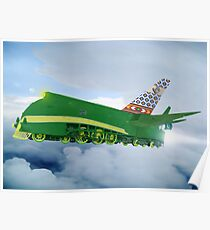 Pakistani Interplanetary Sky Trains Poster