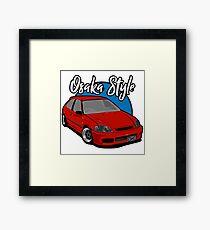 Honda Civic Kanjozoku Framed Print