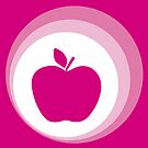 pink apple  by Micheline Kanzy