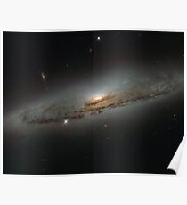 Supermassive and Super-Hungry, NGC 4845 Galaxy, Wallpaper Poster