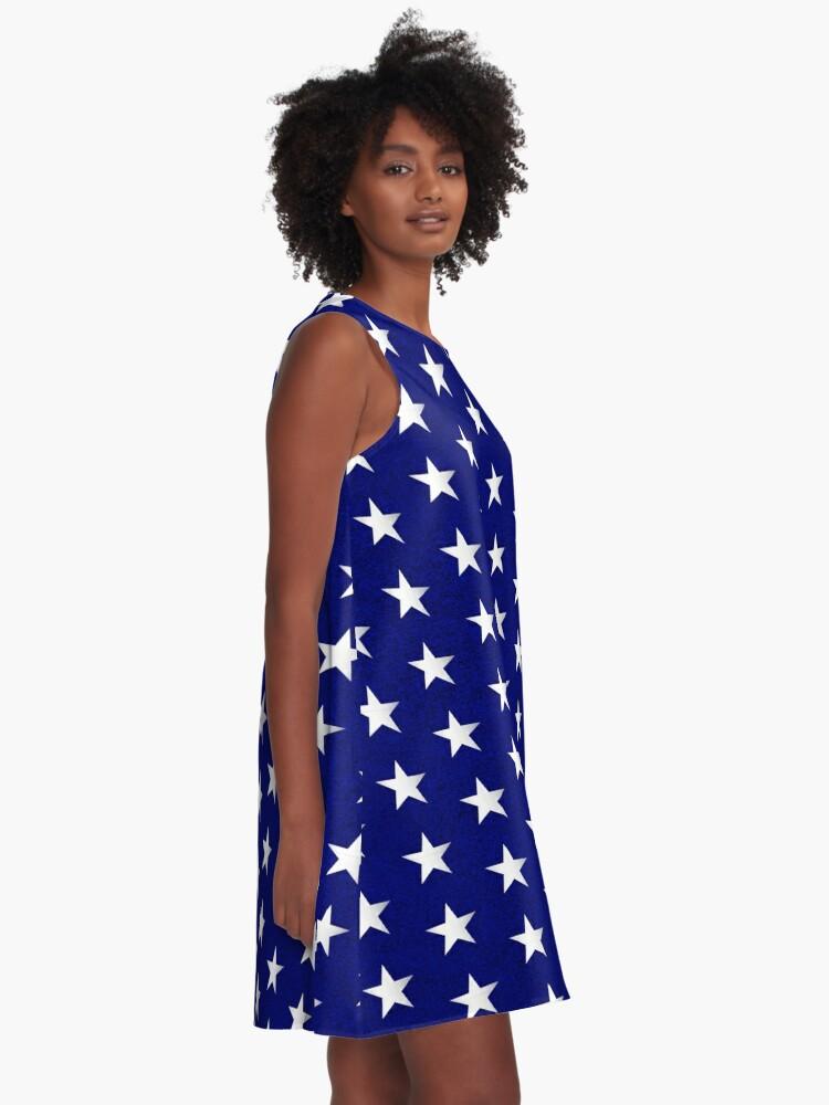 Alternative Ansicht von Amerikanische Flagge Sterne Muster A-Linien Kleid
