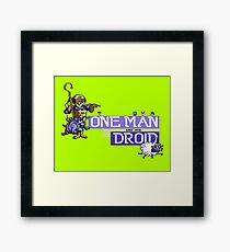 Gaming [C64] - One Man and his Droid Framed Print