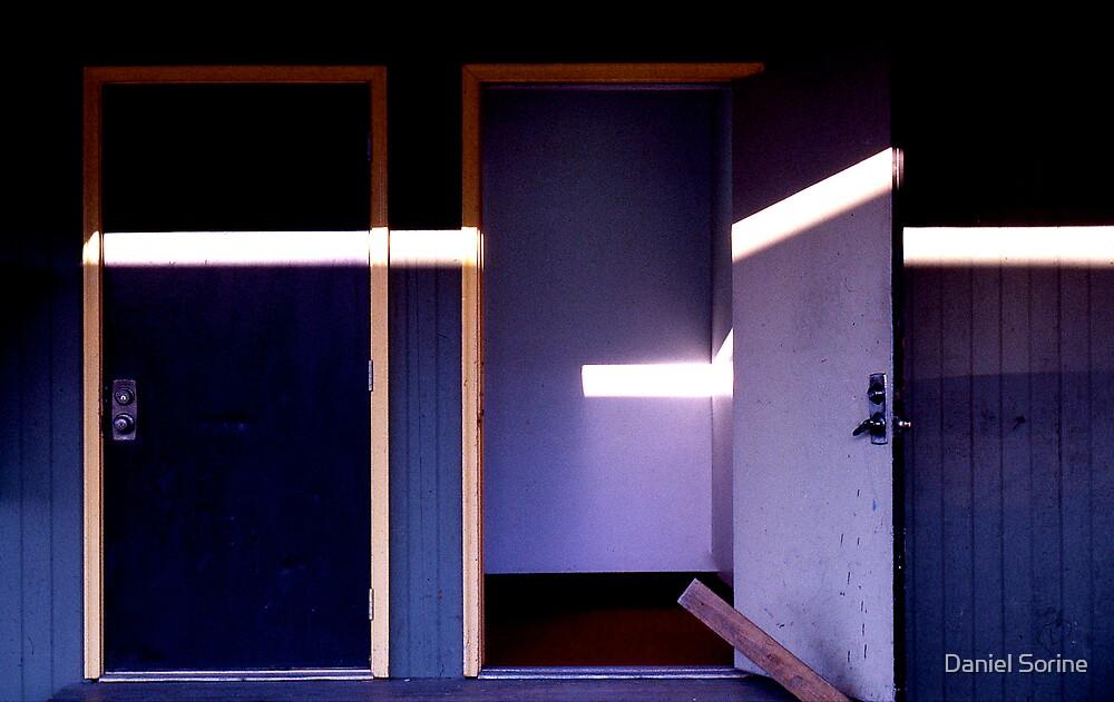 Door with shadows. by Daniel Sorine
