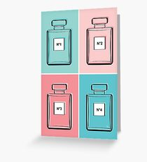 Designer Perfume Bottle Color Block Andy Warhol Style Greeting Card