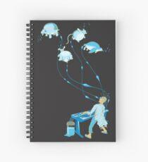 Mad Animal Pianist - Remastered Digital Illustration Spiral Notebook