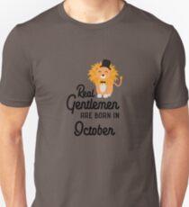 Real Gentlemen are born in October Rlbpz Unisex T-Shirt