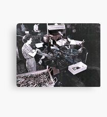 Women Working in Munitions Plant Canvas Print