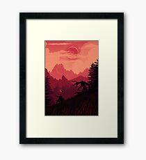 Under A Blood Moon Framed Print