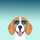Beagle dog pattern ombre beagles summer cute gifts for dog lover dog breeds by PetFriendly  by PetFriendly