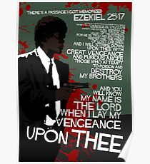 Movie Quote with-a-gun 4 PULP FICTION Poster