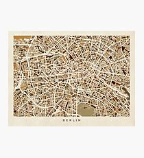 Berlin Germany Street Map Photographic Print
