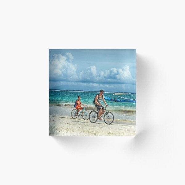Tulum Beach Ride Acrylic Block