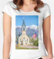 God and Country Women's Fitted Scoop T-Shirt