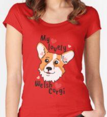My lovely Welsh Corgi Women's Fitted Scoop T-Shirt