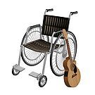 Wheelchair And Guitar by Mythos57