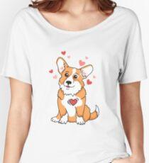 Corgi is it LOVEEEEEEEEEEEE Women's Relaxed Fit T-Shirt