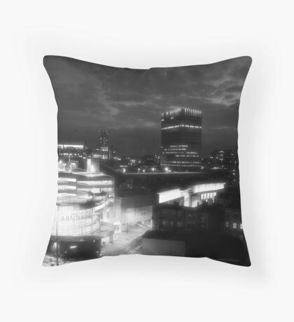 Infra red Manchester Throw Pillow